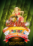 Vector illustration on a casino theme with girl vector illustration