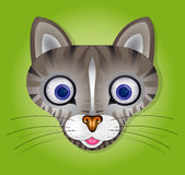 Vector illustration with cat Royalty Free Stock Photos