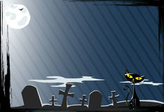 Vector illustration of cat on the grave Stock Photo