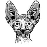 Vector illustration of cat head Royalty Free Stock Photo