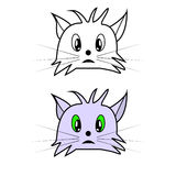 Vector illustration of cat head cartoon style. Eps10 Stock Photo
