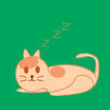 Vector illustration of cat sleep Stock Image