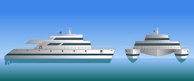 Vector illustration of a catamaran. royalty free illustration