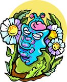 Vector - illustration, caterpillar, summer, big miracle, magic, transformation, wings, dream, fairy tale. Vector - illustration of a caterpillar a great miracle vector illustration