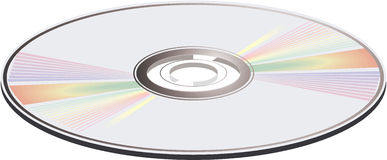 Vector illustration of a CD. Stock Images
