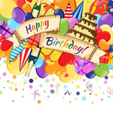 Vector Illustration of celebration Happy Birthday Royalty Free Stock Images