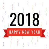 Vector illustration of celebration for Happy new year 2018. Happy new year 2018 celebration banner. Vector illustration Royalty Free Stock Photo