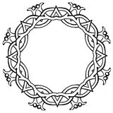 Vector illustration of Celtic knot circle frame black. Vector illustration of Celtic knot circle viking frame black and white Stock Photography