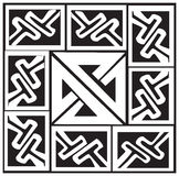 A vector illustration of a Celtic pattern and knot Stock Photography