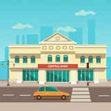 Vector illustration of central bank. Eps 10 Royalty Free Stock Photo