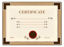 Vector illustration  certificate Royalty Free Stock Image