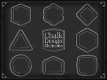 Vector illustration chalk design elements Stock Image