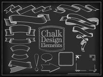 Vector illustration chalk design elements Stock Photos