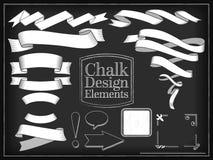 Vector illustration chalk design elements Royalty Free Stock Photography
