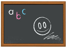 Vector illustration of a chalkboard. Illustration of a chalkboard with wooden frame Stock Photos