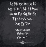 Vector illustration of chalked alphabet Royalty Free Stock Images