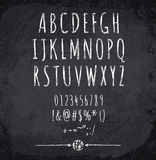 Vector illustration of chalked alphabet Stock Image