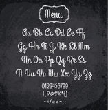 Vector illustration of chalked alphabet Stock Images