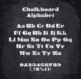 Vector illustration of chalked alphabet Stock Photography