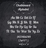 Vector illustration of chalked alphabet Royalty Free Stock Photo