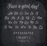 Vector illustration of chalked alphabet. Royalty Free Stock Photos
