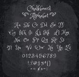 Vector illustration of chalked alphabet. Stock Photos