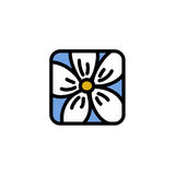 Vector illustration of chamomile. Vector icon of chamomile flower royalty free illustration