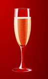 Vector illustration of a champagne glass royalty free stock photos