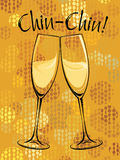Vector illustration of champagne glasses Royalty Free Stock Photo