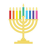 Channukah lamp. Vector illustration of Channukah lamp Stock Image