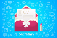 Vector illustration of character envelope office occupation with Royalty Free Stock Images