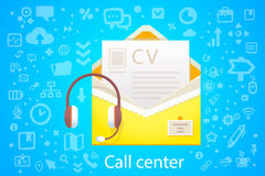 Vector illustration of character envelope office occupation with Stock Photography