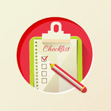 Vector illustration of check list Stock Photo