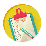 Vector illustration of check list Stock Photos