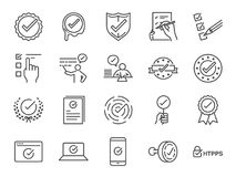 Check mark icon set. Included the icons as correct, verified, certificate, approval, accepted, confirm, check List and more. Vector and illustration: Check mark royalty free illustration