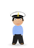 Vector illustration the cheerful seaman Stock Photography