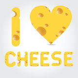 Vector  illustration with cheese Royalty Free Stock Photo