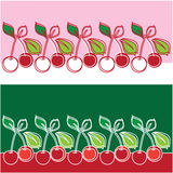 Vector illustration of a cherry Stock Photo