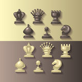 Vector illustration of chess pieces Stock Photography