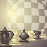 Vector illustration of chess pieces Royalty Free Stock Photography