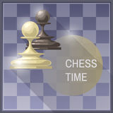 Vector illustration of chess pieces Royalty Free Stock Photos