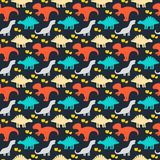 Vector illustration. Children cute seamless pattern with silhoue royalty free illustration