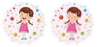 Vector Illustration Of Children Hygiene. Eps 10 royalty free illustration