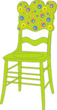 Vector illustration of children's chair Royalty Free Stock Images