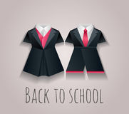 Vector illustration of children's uniforms for school. Royalty Free Stock Photo