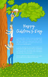 Vector illustration. Childrens Day Royalty Free Stock Image