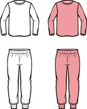 Childs jumper and joggers. Vector illustration of childs clothes. Jumper and joggers. Casual clothes Stock Photography
