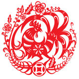 Vector illustration of Chinese year of rooster Stock Photos