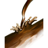 Vector illustration of chocolate pours Royalty Free Stock Images