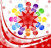 Vector illustration of Christmas background Royalty Free Stock Image